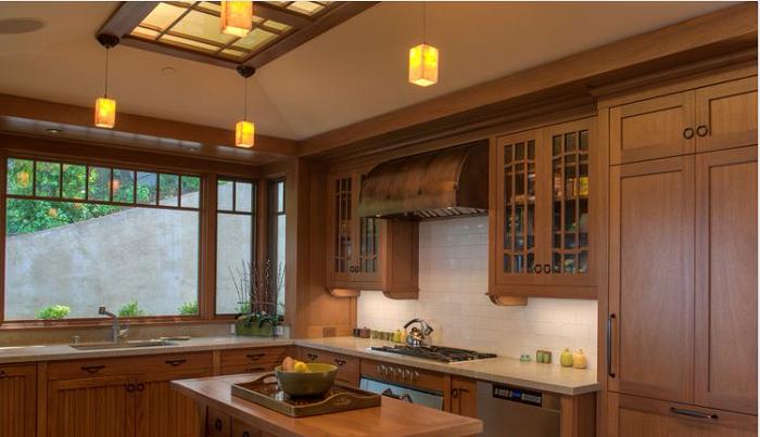 Thiết kế hiện đại cùng màu sắc trẻ trung mang đến sự hài hòa, tinh tế cho căn bếp