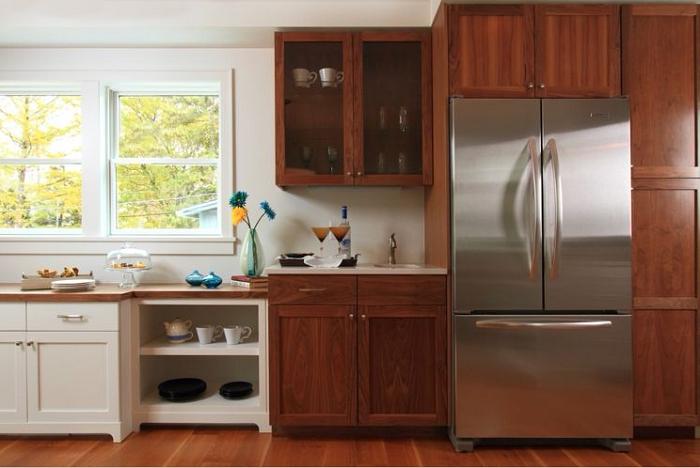 Thiết kế tủ bếp kiểu chữ I đơn giản phù hợp với căn bếp nhỏ và hẹp
