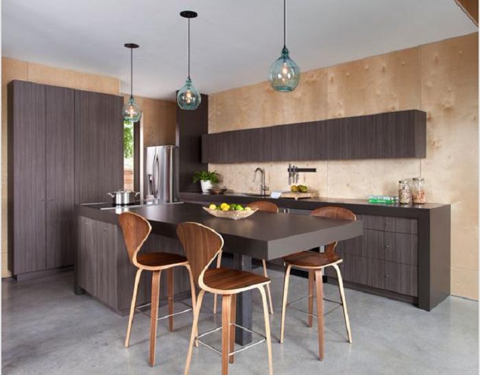 Mẫu tủ bếp đẹp kiểu chữ L tiết kiệm diện tích phù hợp với nhiều căn bếp khác nhau