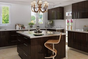 8 mẫu tủ bếp gỗ laminate có thiết kế đẹp hiện đại