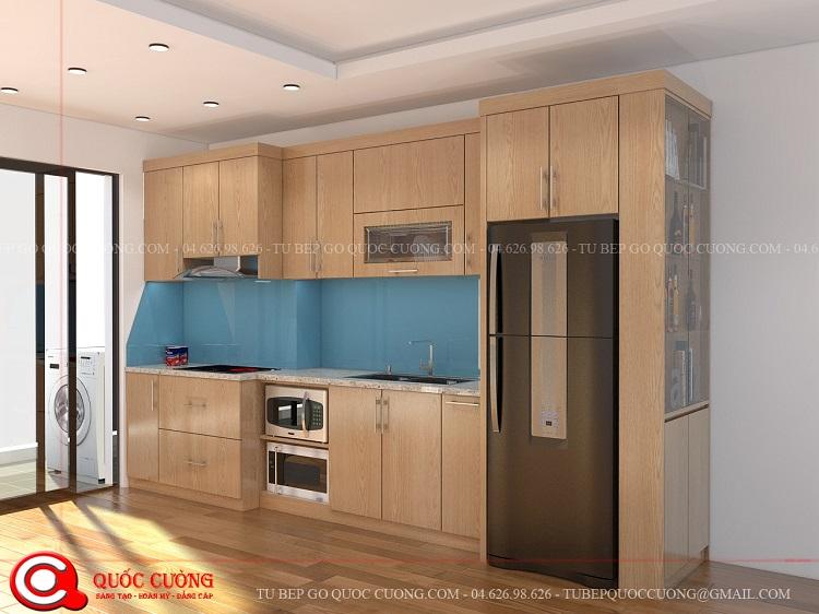 Tủ bếp gỗ MFC An Cường – MFCAC01