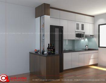 Tủ bếp gỗ MFC An Cường – MFCAC05 là mẫu tủ bếp gỗ công nghiệp cao cấp thân thiện với môi trường tạo cảm giác an toàn, thư thái cho người dùng.