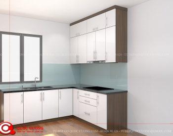 Tủ bếp MFCML02 có hệ thống phụ kiện gồm các thiết bị bếp như máy hút mùi, bếp từ và phụ kiện chức năng như chậu rửa, kệ chén bát đều được nhập khẩu từ các thương hiệu như EuroGold, Faster, Abber.