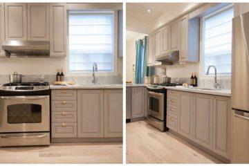 Địa chỉ thiết kế mẫu tủ bếp gỗ melamin đẹp chất lượng