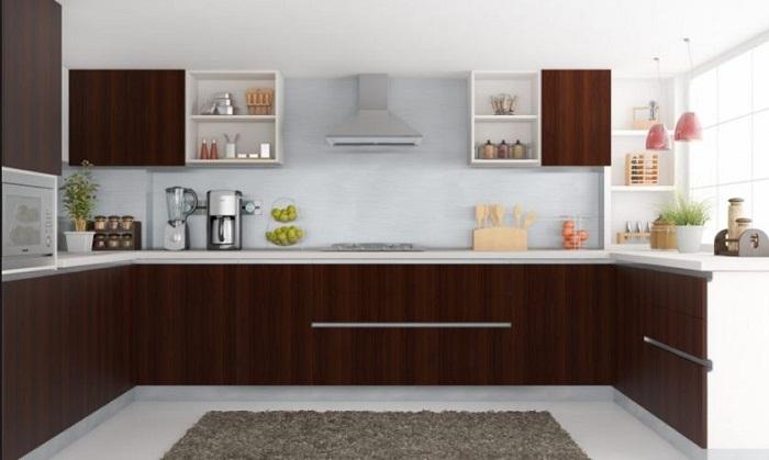 Những mẫu tủ bếp acrylic đẹp thiết kế hình chữ U