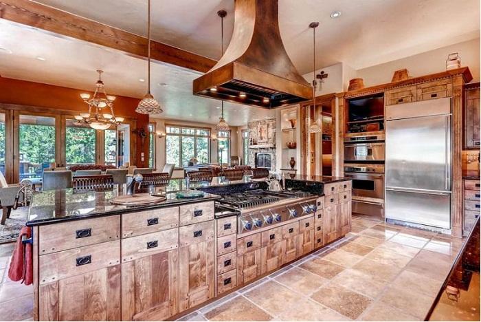 Những mẫu tủ bếp gỗ đẹp phong cách hiện đại nhất năm 2018