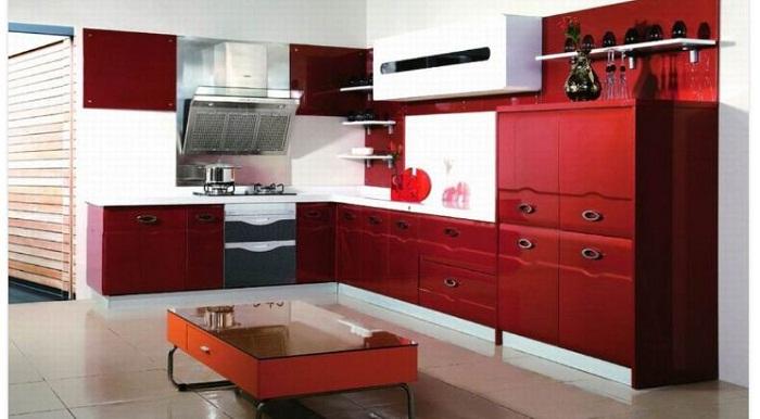 Tủ bếp gỗ công nghiệp Laminate dành cho nhà biệt thự