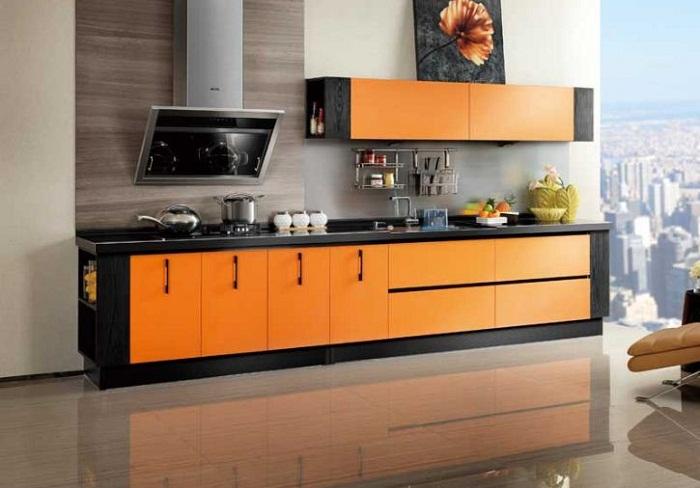 Tủ bếp gỗ Laminate cao cấp giá rẻ tại Hà Nội