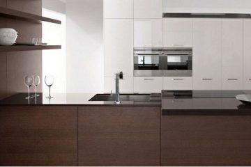 Tủ bếp gỗ melamin chữ I dành cho nhà chật hẹp