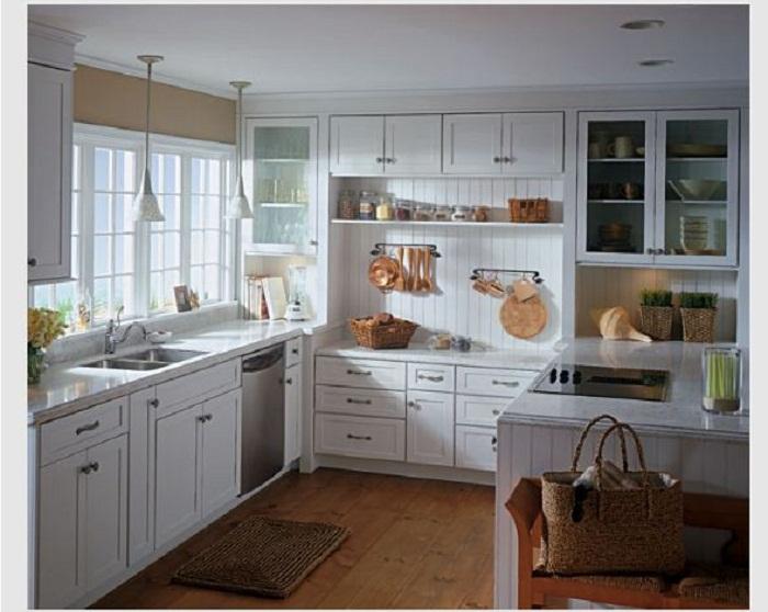 Tủ bếp Laminate có thiết kế gọn nhẹ được nhiều khách hàng yêu thích