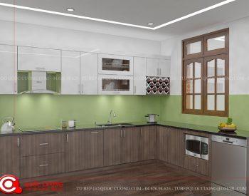 Tủ bếp gỗ Laminate Quốc Cường đẹp nhất Tu-bep-go-laminate-l15-350x275