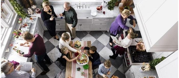 Tủ bếp có phân bố khu vực hợp lý là yếu tố tiện lợi trong quá trình sử dụng