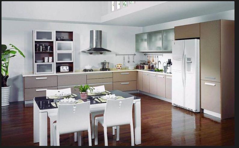 Mẫu tủ bếp gỗ đẹp mfc cho gian bếp thêm hiện đại