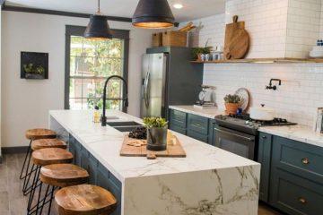 Thiết kế tủ bếp gỗ hợp phong thủy với chủ nhân ngôi nhà