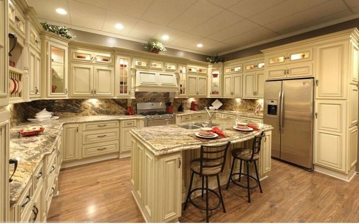 Tủ bếp gỗ thiết kế chuẩn kích thước và mọi yếu tố thẫm mỹ khác nữa