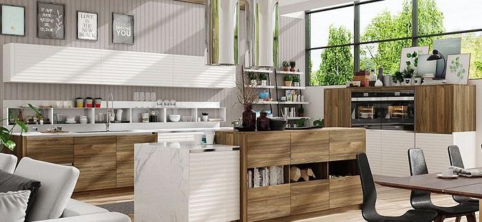 Đóng tủ bếp gỗ công nghiệp nên hay không?