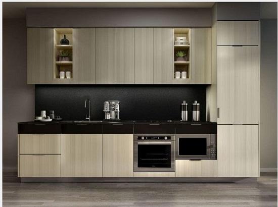 nhung mau tu bep go cong nghiep chu i laminate gia re 3 - Top 35 mẫu tủ bếp gỗ công nghiệp đẹp hiện đại 2019