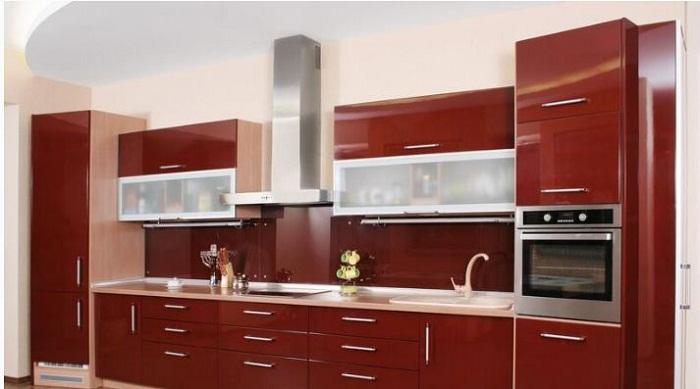 Những mẫu tủ bếp gỗ công nghiệp có màu sắc trẻ trung