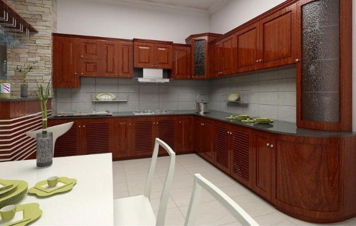 Nội thất tủ bếp gỗ tự nhiên vệ sinh đúng cách như thế nào