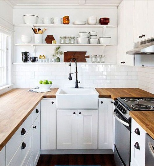 Thiết kế nội thất tủ bếp đẹp cho không gian hẹp