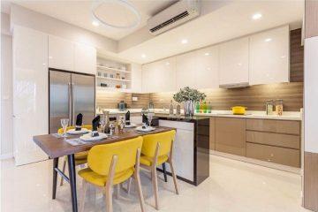 Thiết kế tủ bếp gỗ acrylic đẹp giá rẻ tại Hà Nội