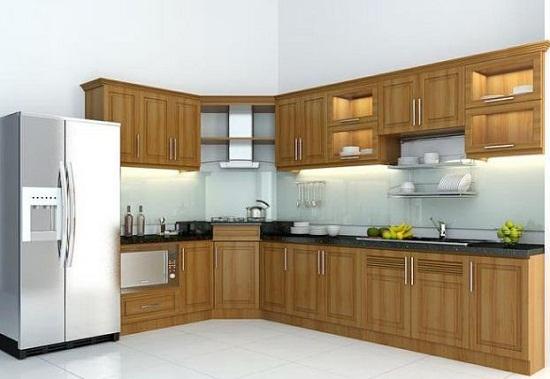 10 mẫu tủ bếp gỗ tự nhiên đẹp chữ L khiến bạn ngơ ngẩn