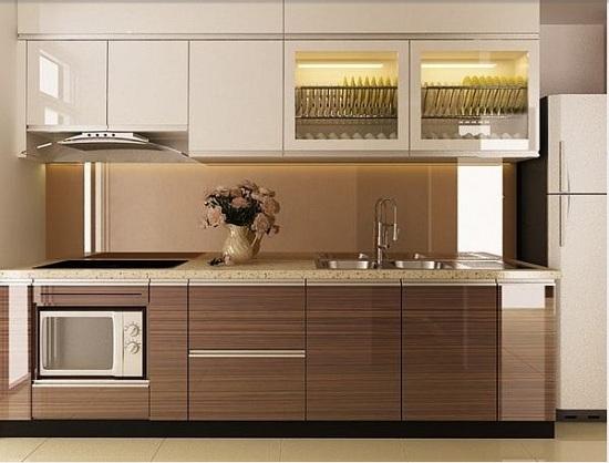 Cơ sở làm tủ bếp laminate giá rẻ bền đẹp tại Hà Nội