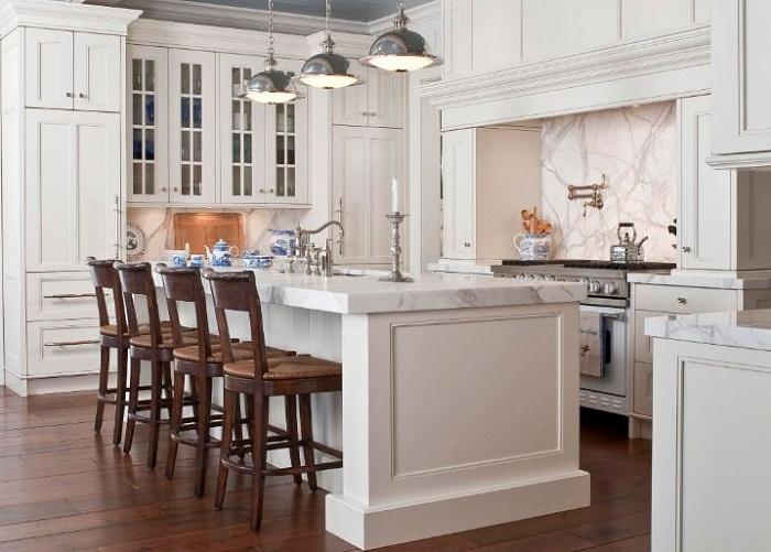 Làm tủ bếp đẹp đơn giản tiết kiệm kinh phí