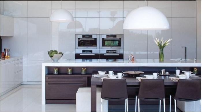 Mẫu tủ bếp đẹp hợp với không gian nhà hiện đại