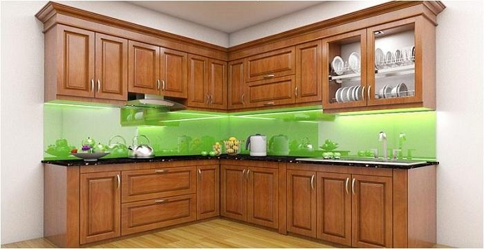 Tủ bếp gỗ xoan đào bền đẹp giá rẻ phải chăng