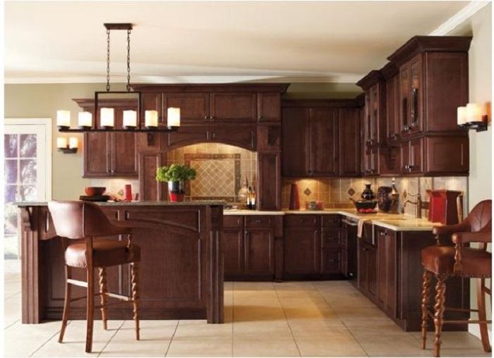 Tủ bếp gỗ Giáng Hương loại gỗ có độ bền cao