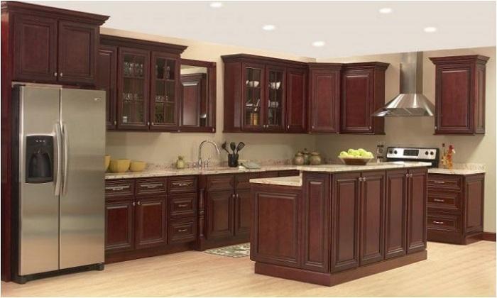 Tủ bếp gỗ Giáng Hương có giá thành cao gấp 2-3 lần những loại gỗ tự nhiên khác.