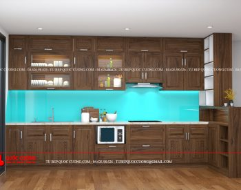 Tủ bếp gỗ óc chó OC13 là mẫu tủ bếp gỗ tự nhiên thân thiện với môi trường có các ưu điểm vượt trội cùng mùi hương nhẹ nhàng mang đến cảm giác thư giãn, thoải mái cho người dùng khi nấu nướng món ăn.
