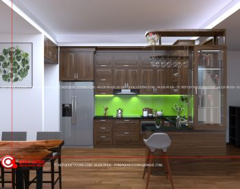 Tủ bếp gỗ óc chó OC14 là mẫu tủ bếp gỗ tự nhiên thân thiện với môi trường và được nhập khẩu từ Châu Âu. Các ưu điểm về độ cứng, độ bền cao và khả năng chịu nhiệt tốt giúp tạo sự đặc trưng của sản phẩm mang đến sự hài lòng cho người dùng.