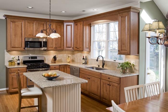 Mẫu tủ bếp chất liệu gỗ tự nhiên đẹp sang trọng và đẳng cấp xứng đáng để bạn chọn cho căn bếp nhà mình