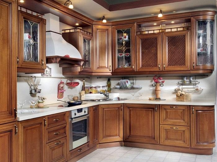 Làm mặt đá cho tủ bếp tiện lợi trong vấn đề vệ sinh tủ bếp