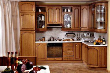 Mẫu tủ bếp gỗ tự nhiên đẹp sang trọng và đẳng cấp