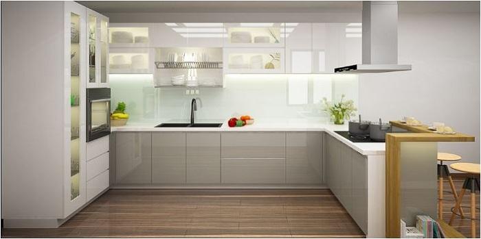 Thiết kế tủ bếp sát trần lựa chọn thông minh cho nhà bếp nhỏ