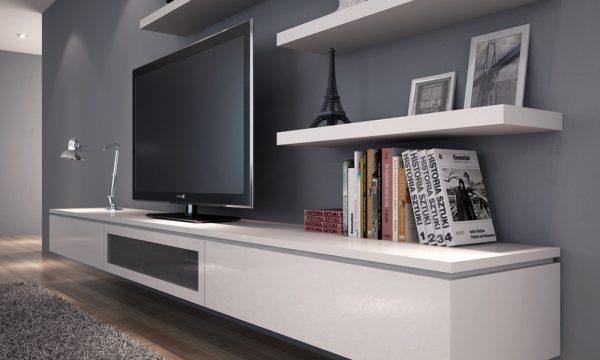 Kệ Tivi gỗ Acrylic An Cường phòng khách - KTV-09