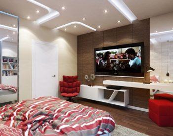 Kệ Tivi gỗ Acrylic An Cường phòng ngủ - KTV-06