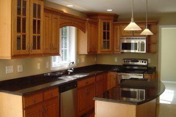 Các thiết kế khác nhau của tủ bếp vát góc