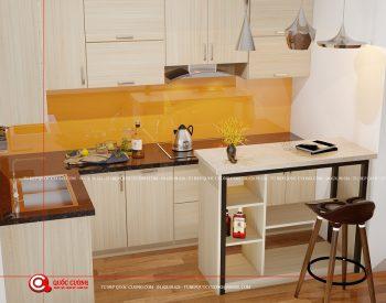 Mẫu tủ bếp Laminate – L20