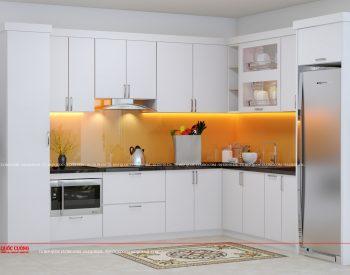 Tủ bếp gỗ Laminate - L17