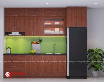 Tủ bếp gỗ xoan đào XD 019