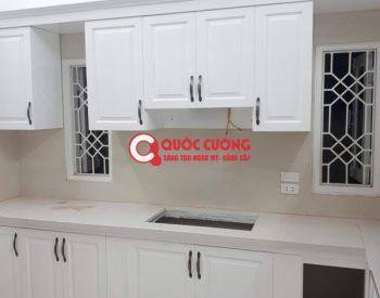 Công trình 39: Tủ bếp Sồi nga sơ trắng chữ L đăng cấp