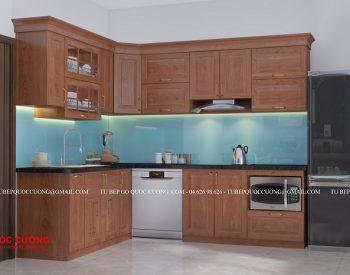 tủ bếp gỗ xoan đào xd 20
