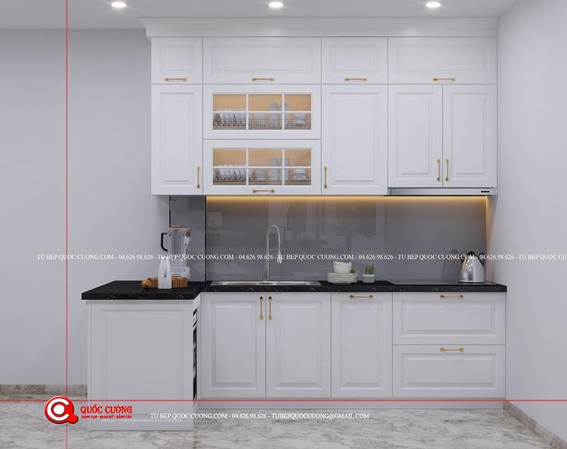 Tủ bếp Sồi Nga Trắng- SNT06