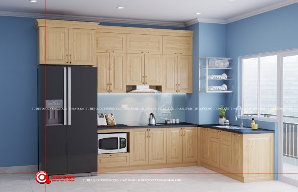 Tủ bếp Sồi nga SN13