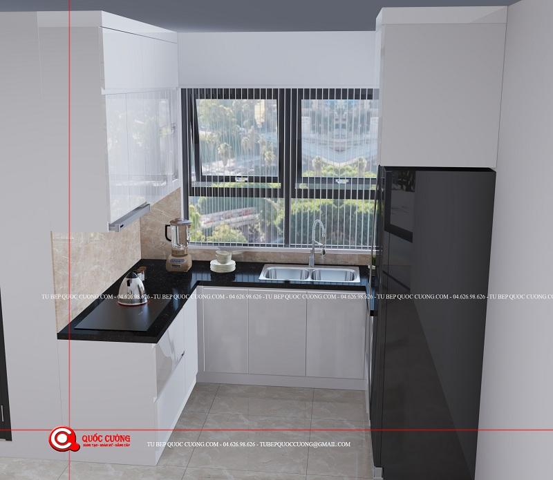 Tủ bếp Nhựa cho phòng bếp nhỏ hẹp