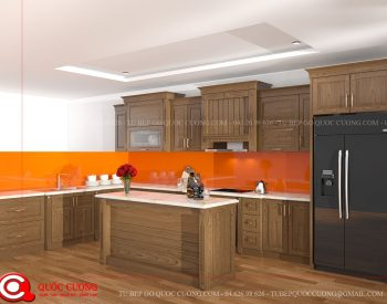 Tủ bếp sồi nga QC-31